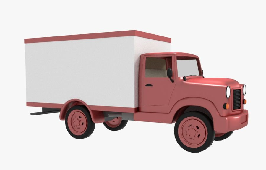 un camion royalty-free 3d model - Preview no. 3
