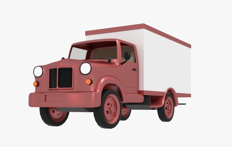 un camion royalty-free 3d model - Preview no. 2