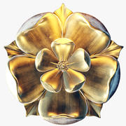 Gold Tudor Rose 3d model