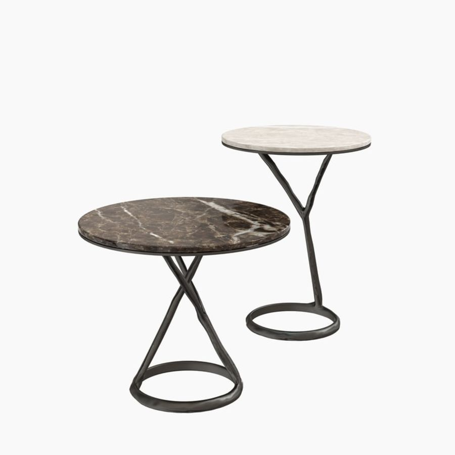 Round Marble Coffee Table POLIFORM iron royalty-free 3d model - Preview no. 2