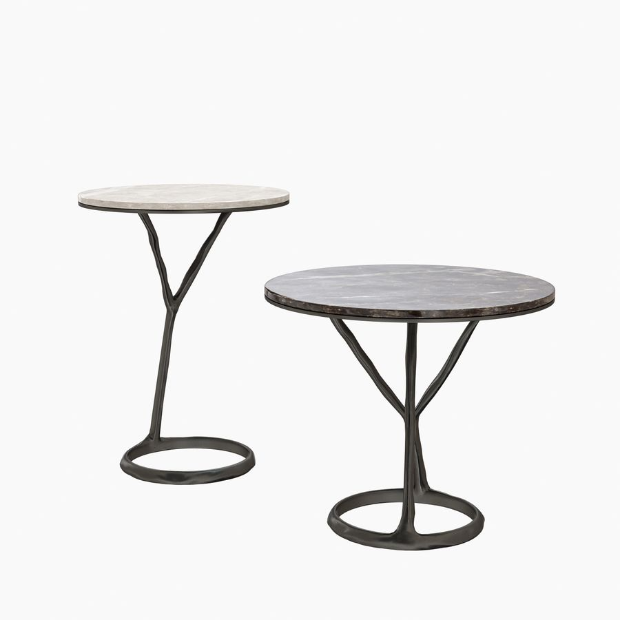 Round Marble Coffee Table POLIFORM iron royalty-free 3d model - Preview no. 3