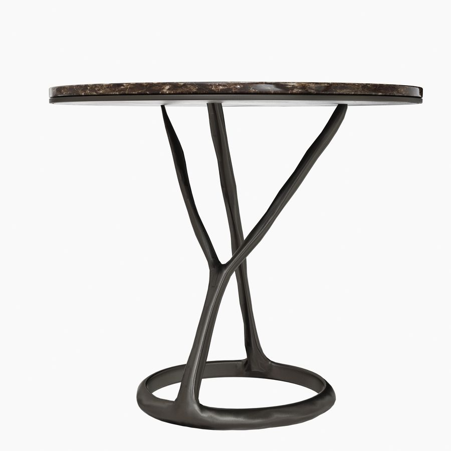 Round Marble Coffee Table POLIFORM iron royalty-free 3d model - Preview no. 5