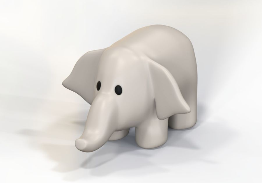 Stuffed elephant royalty-free 3d model - Preview no. 5
