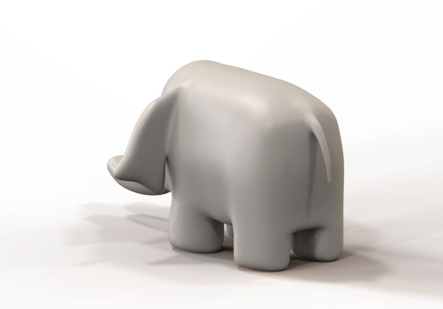 Stuffed elephant royalty-free 3d model - Preview no. 6