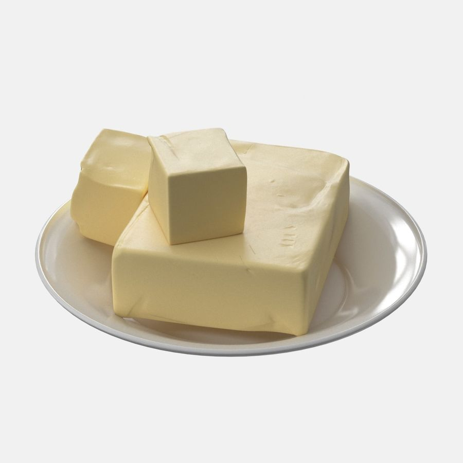 Butter royalty-free 3d model - Preview no. 5