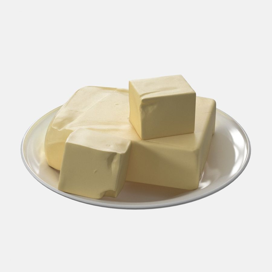 Butter royalty-free 3d model - Preview no. 7