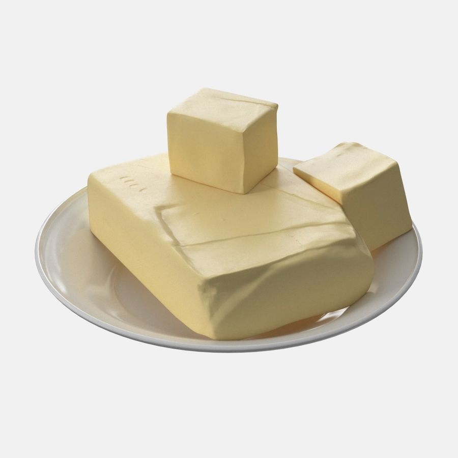 Butter royalty-free 3d model - Preview no. 2