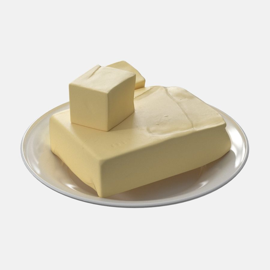 Butter royalty-free 3d model - Preview no. 4