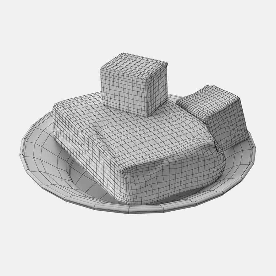 Butter royalty-free 3d model - Preview no. 12