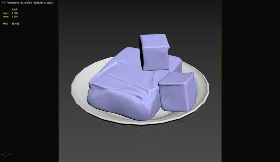 Butter royalty-free 3d model - Preview no. 25