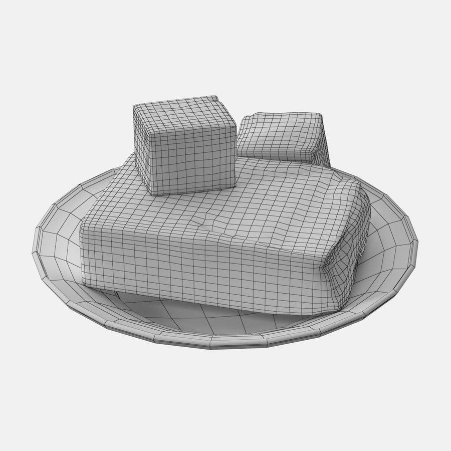 Butter royalty-free 3d model - Preview no. 13