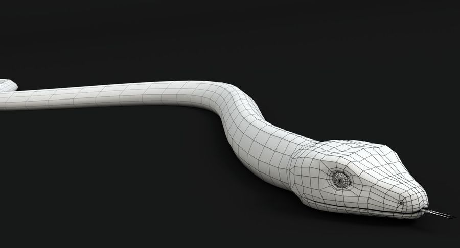 Garter Snake royalty-free 3d model - Preview no. 15