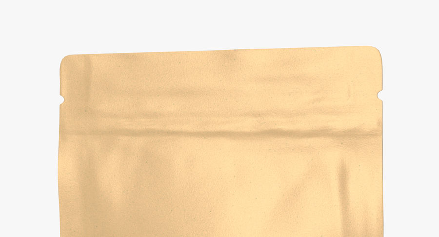 Paper Sachet royalty-free 3d model - Preview no. 8