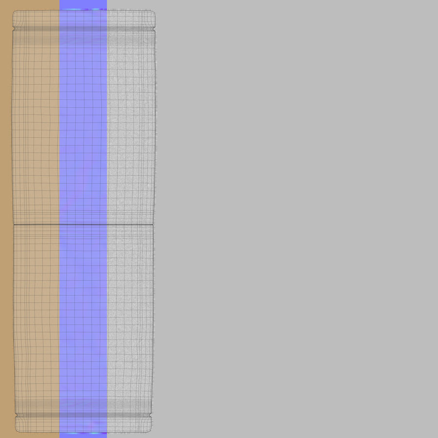 Paper Sachet royalty-free 3d model - Preview no. 15