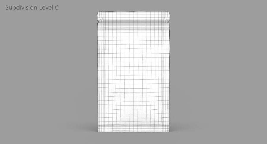 Paper Sachet royalty-free 3d model - Preview no. 9