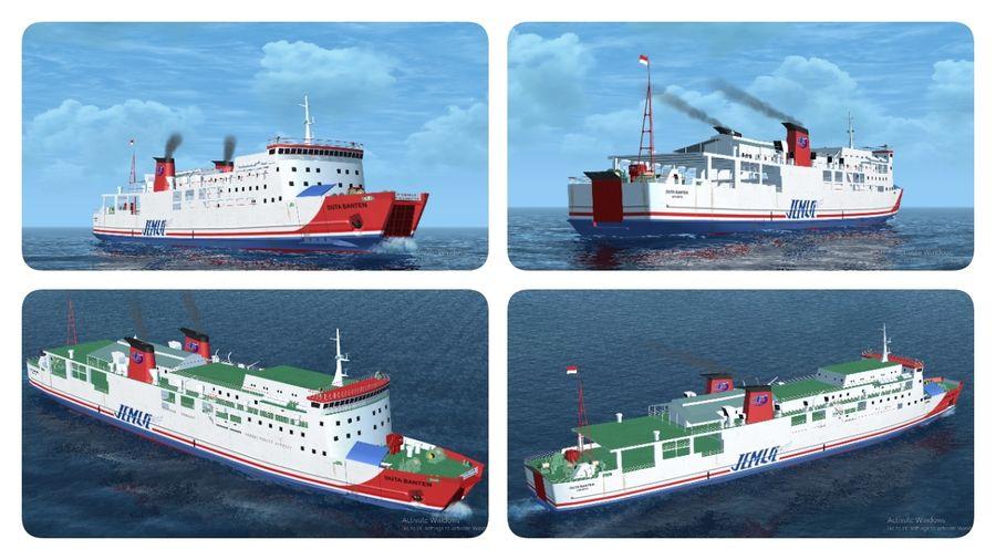 KMP Duta Banten royalty-free 3d model - Preview no. 5