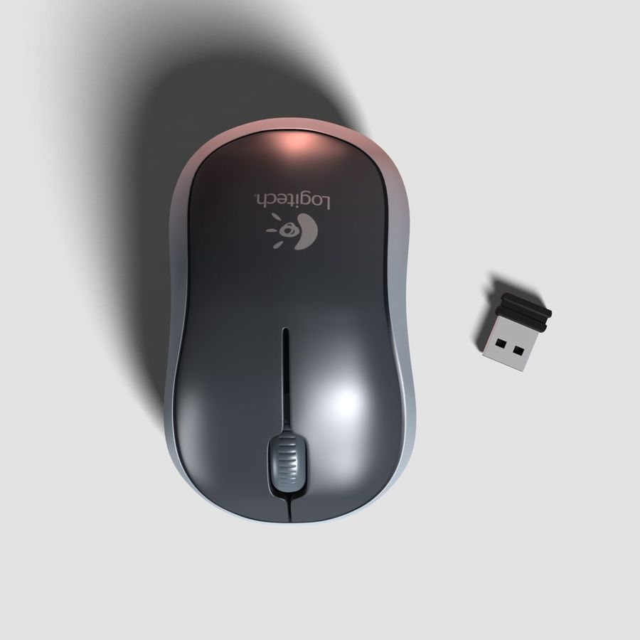 Logitech M185 Wireless Mouse 3d Model 6 Ma Obj Fbx Max Free3d Wirelesss M 185 Royalty Free Preview No