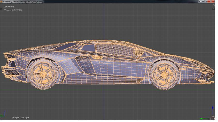 Sport Car Supercar royalty-free 3d model - Preview no. 8