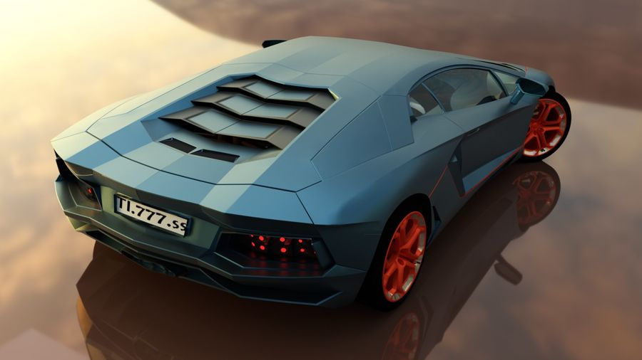 Sport Car Supercar royalty-free 3d model - Preview no. 5