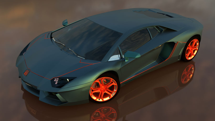 Sport Car Supercar royalty-free 3d model - Preview no. 4
