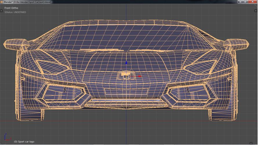 Sport Car Supercar royalty-free 3d model - Preview no. 20