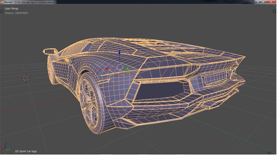 Sport Car Supercar royalty-free 3d model - Preview no. 11