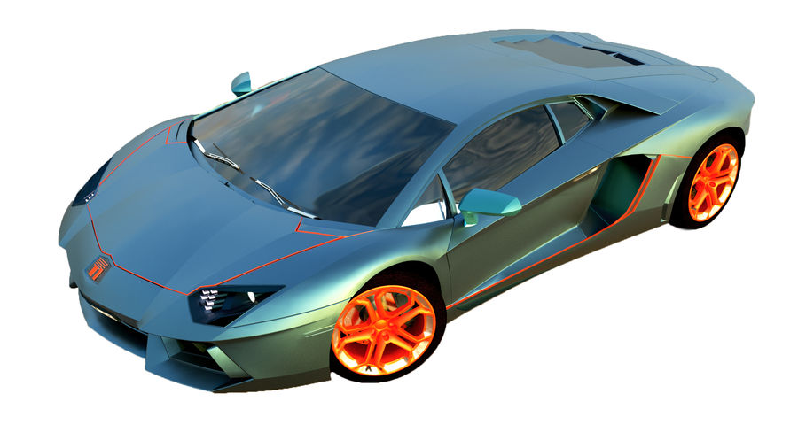 Sport Car Supercar royalty-free 3d model - Preview no. 3