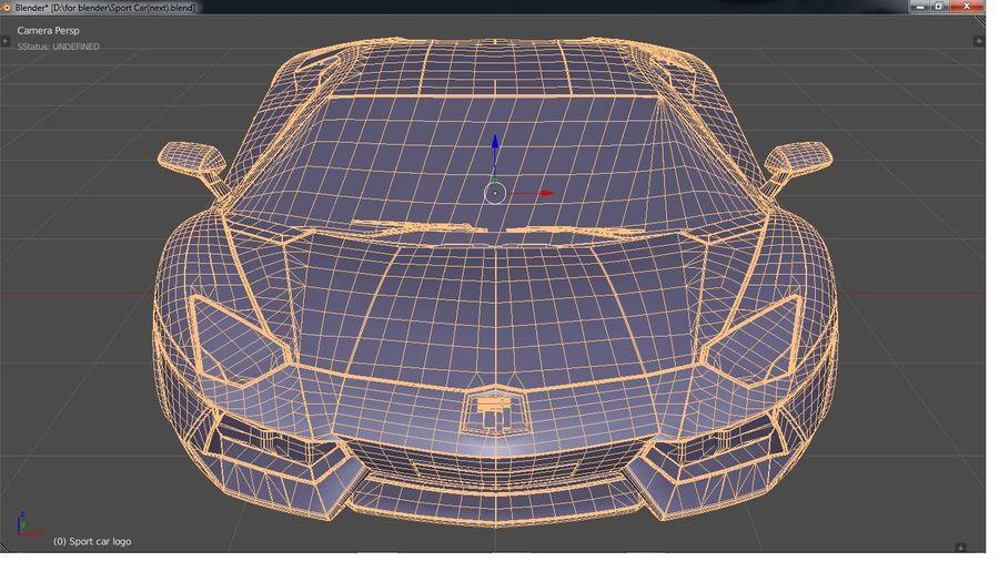 Sport Car Supercar royalty-free 3d model - Preview no. 10