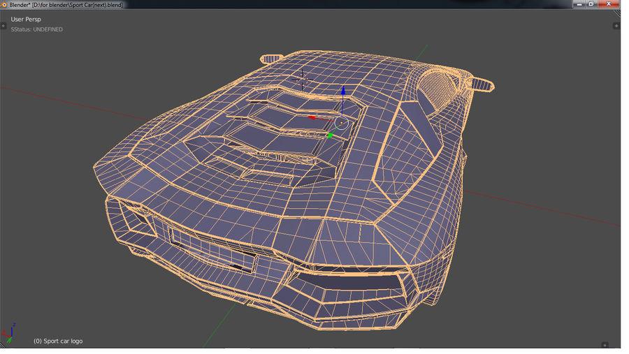 Sport Car Supercar royalty-free 3d model - Preview no. 18