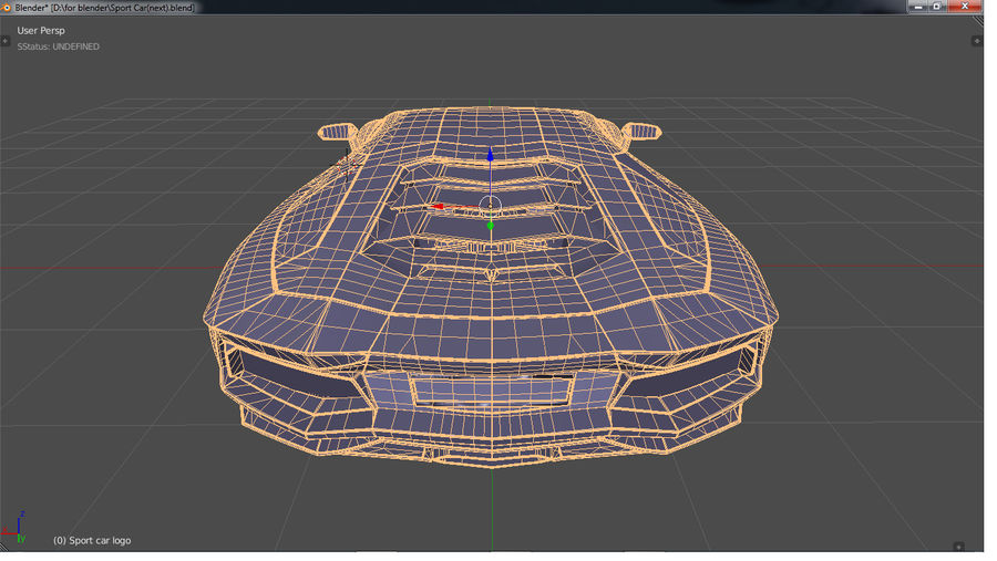 Sport Car Supercar royalty-free 3d model - Preview no. 12