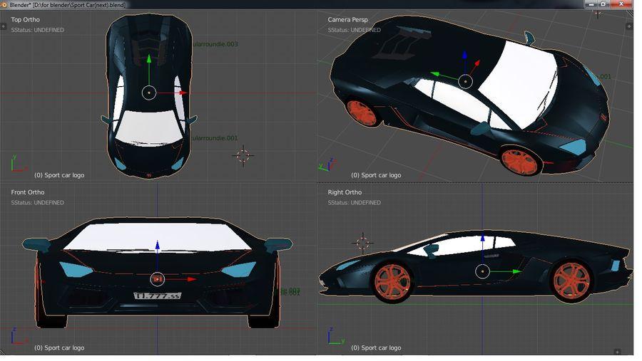 Sport Car Supercar royalty-free 3d model - Preview no. 6