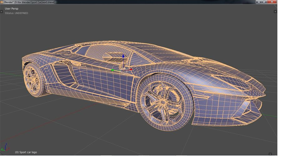 Sport Car Supercar royalty-free 3d model - Preview no. 13