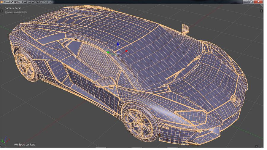 Sport Car Supercar royalty-free 3d model - Preview no. 9