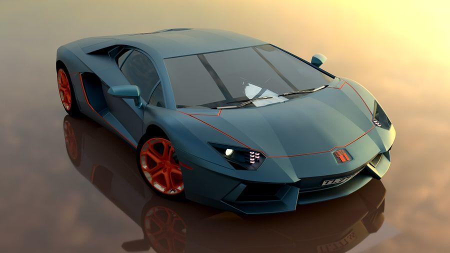 Sport Car Supercar royalty-free 3d model - Preview no. 1