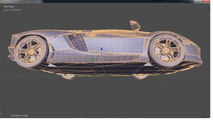 Sport Car Supercar royalty-free 3d model - Preview no. 15