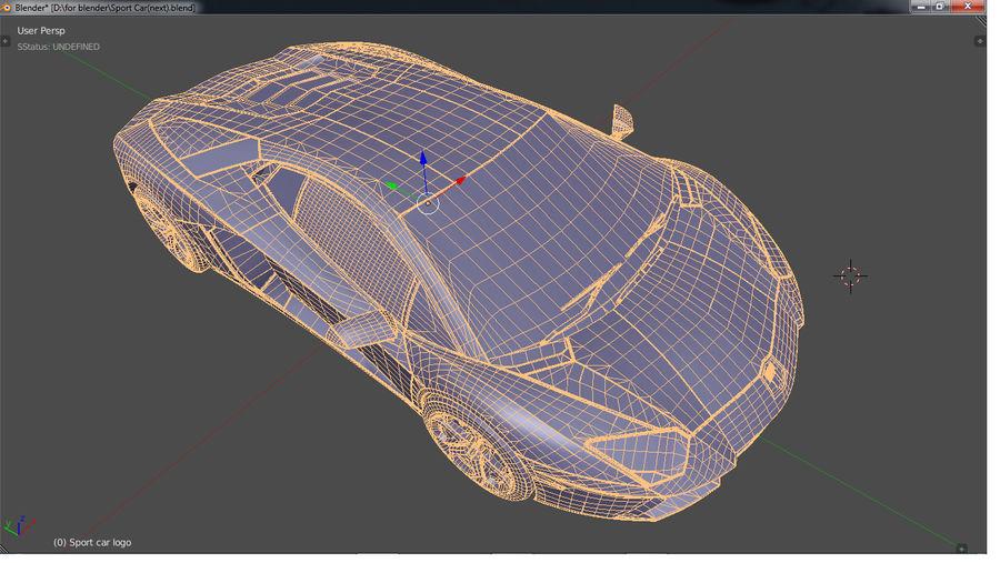 Sport Car Supercar royalty-free 3d model - Preview no. 16