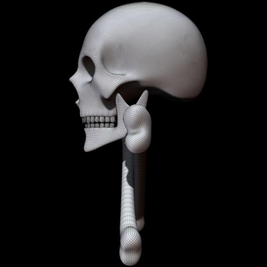 Skull cross bones royalty-free 3d model - Preview no. 17