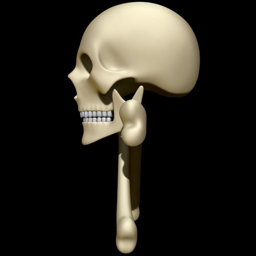 Skull cross bones royalty-free 3d model - Preview no. 7