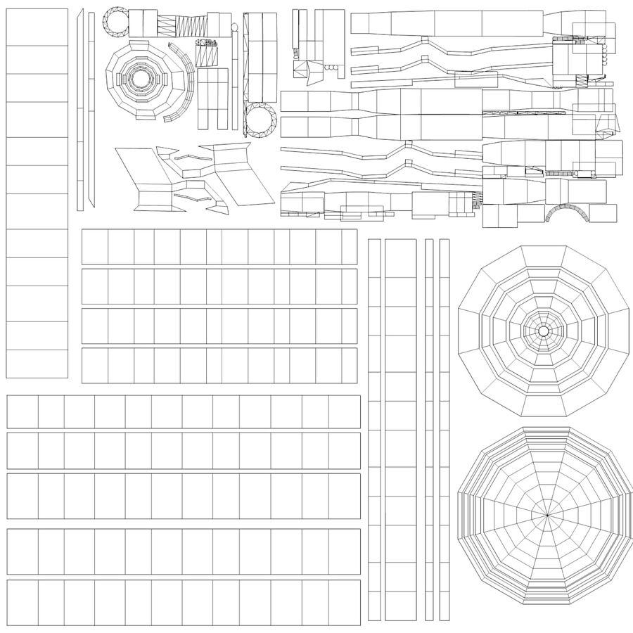 水枪 royalty-free 3d model - Preview no. 6