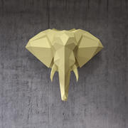 Low poly elephant head 3d model