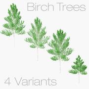 Birch Trees - Lowpoly 3d model