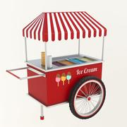 Ice Cream Cart 02 3d model