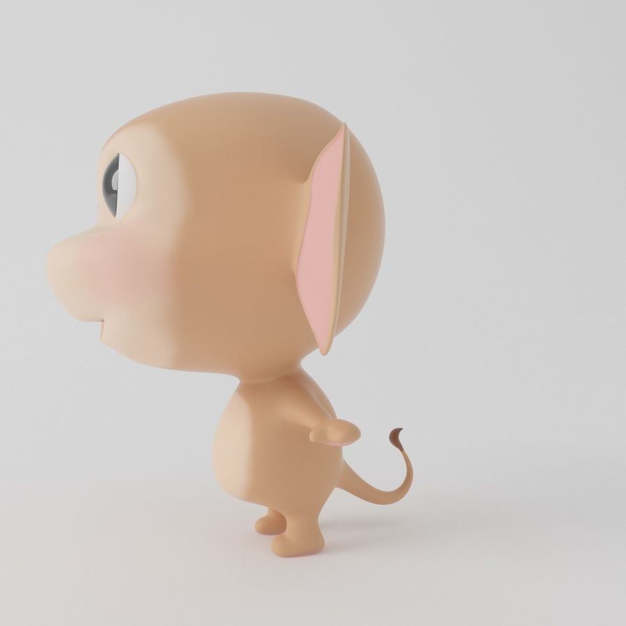 Cartoon monkey royalty-free 3d model - Preview no. 7