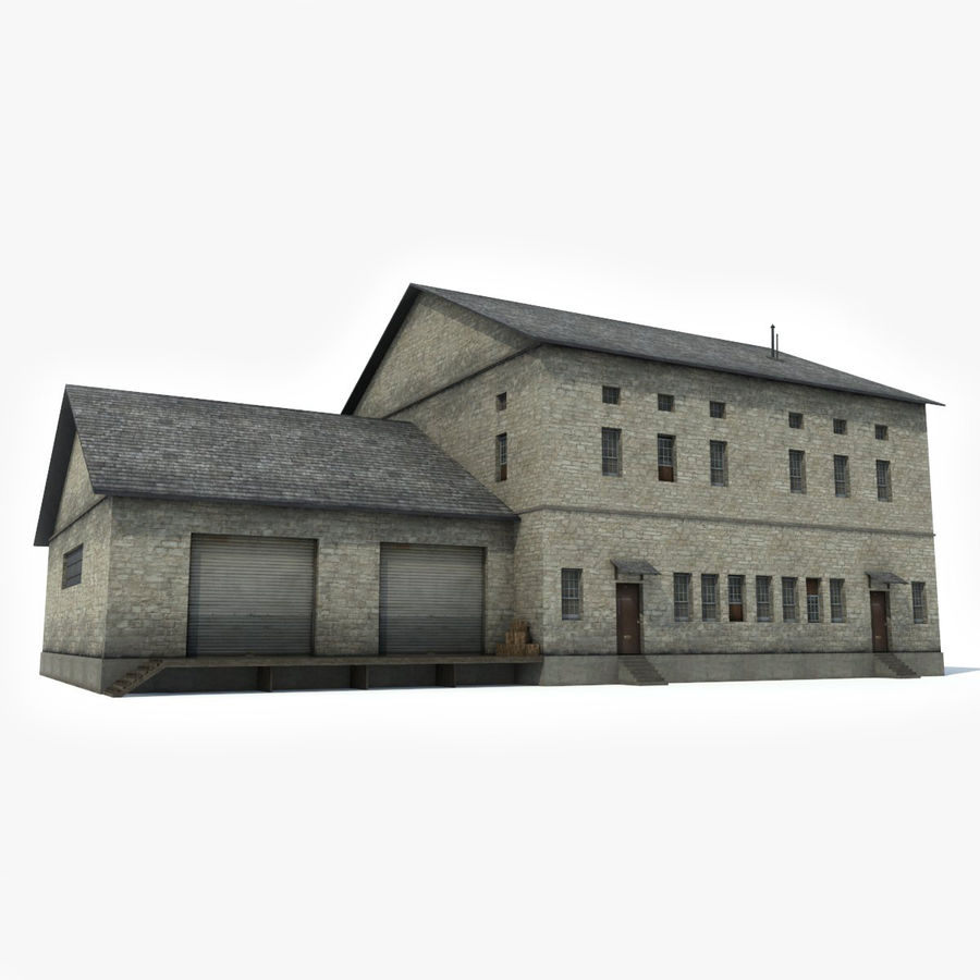 Industrial Building I royalty-free 3d model - Preview no. 8