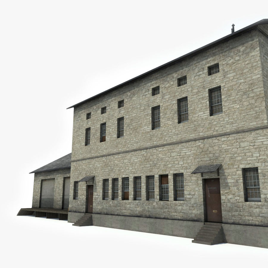 Industrial Building I royalty-free 3d model - Preview no. 7