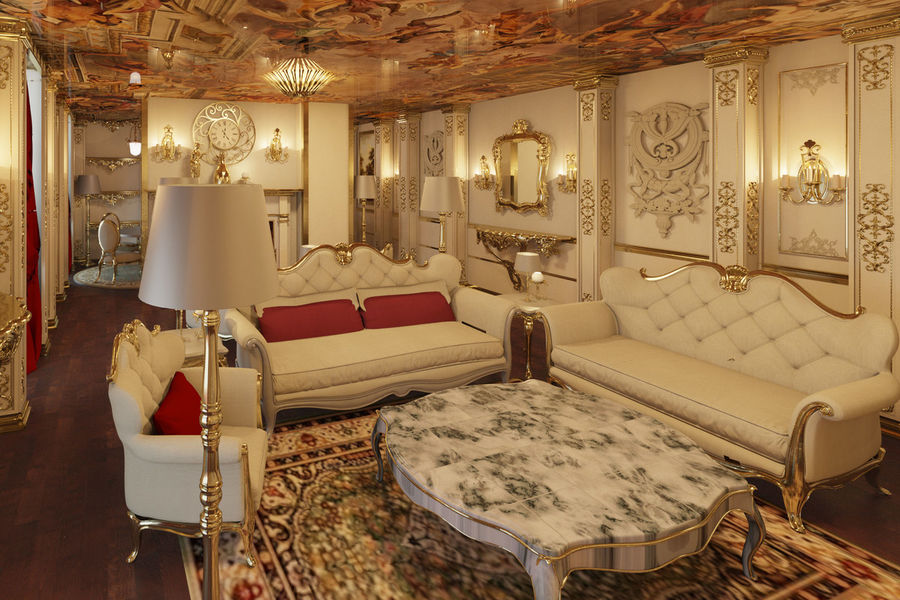 Classic Architecture Scene Revit royalty-free 3d model - Preview no. 3