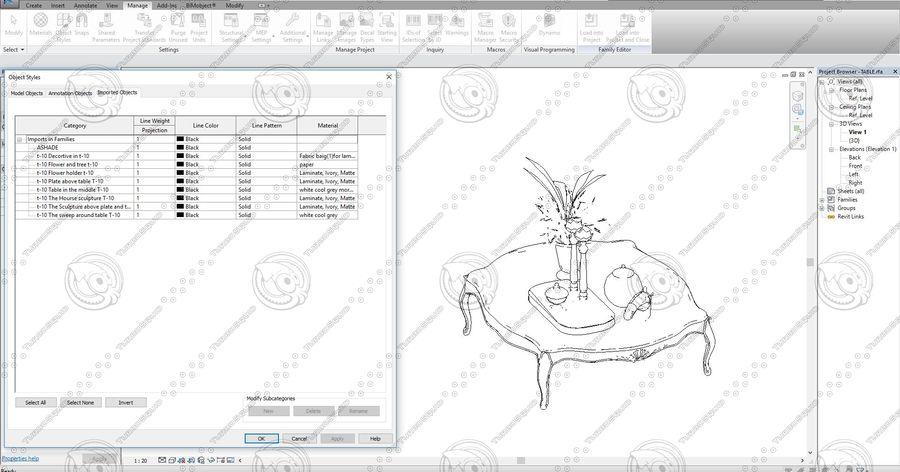 Classic Architecture Scene Revit royalty-free 3d model - Preview no. 8