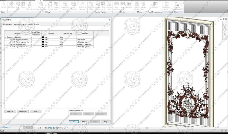 Classic Architecture Scene Revit royalty-free 3d model - Preview no. 6