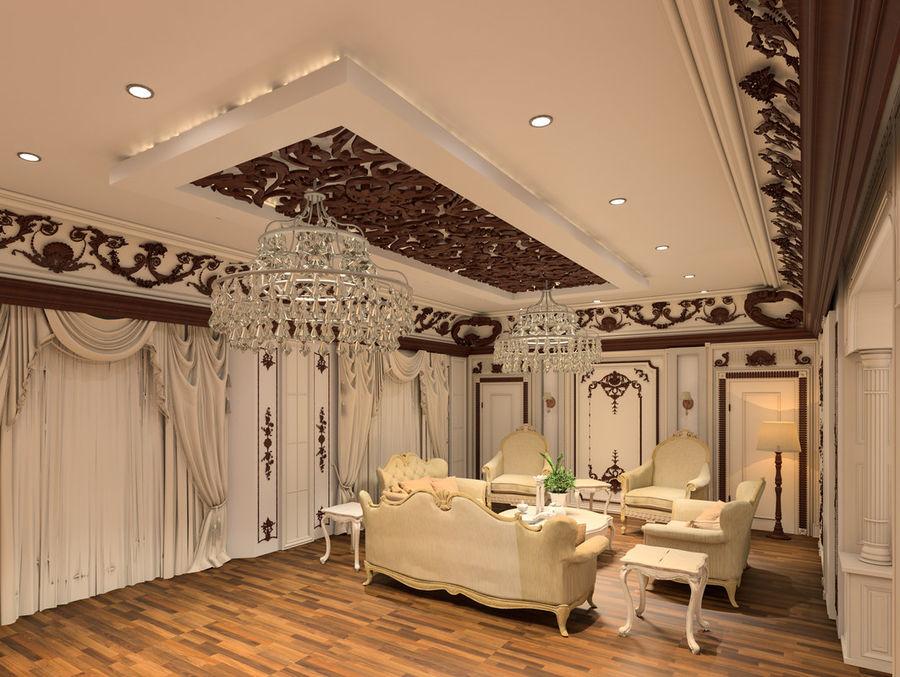 Classic Architecture Scene Revit royalty-free 3d model - Preview no. 1