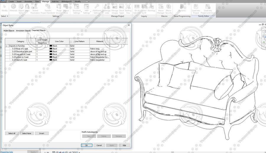 Classic Architecture Scene Revit royalty-free 3d model - Preview no. 5